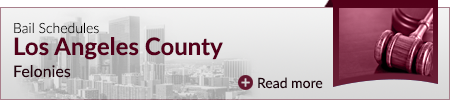 Bail Schedules Los Angeles County