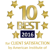 10 Best in 2016 for Client Satisfaction by American Institute of Criminal Law Attorneys