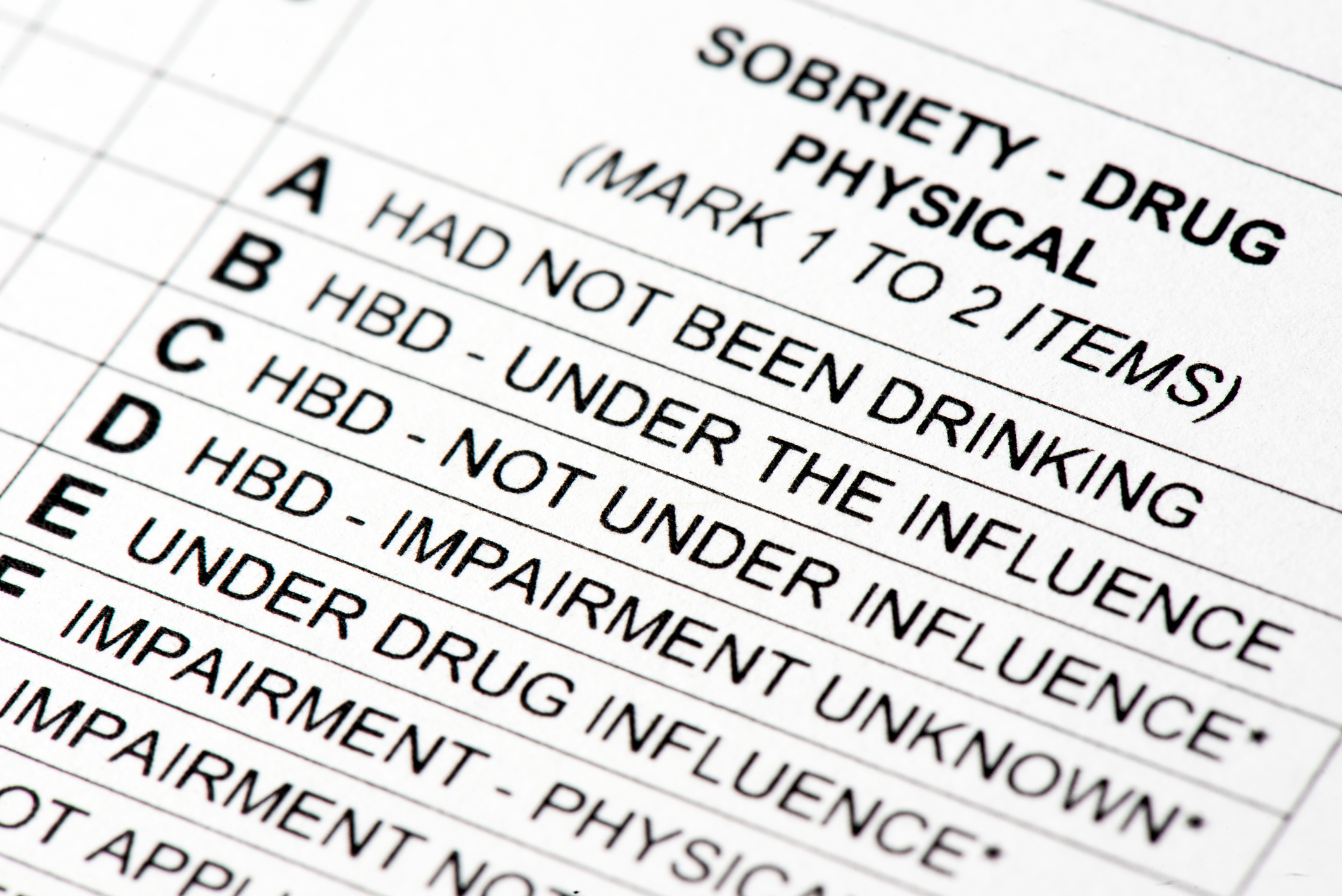 Errors on Your DUI Police Report Can have a Big Impact on
